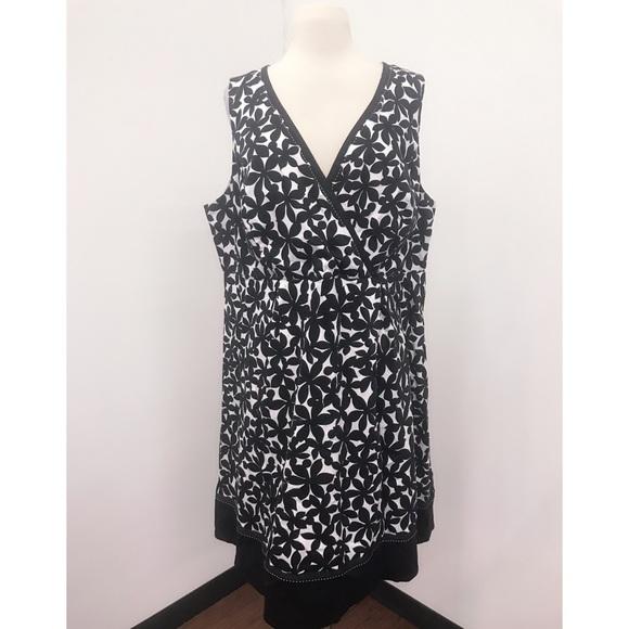 577b14747e62 Lane Bryant Dresses   Black White Floral Dress Size 18   Poshmark